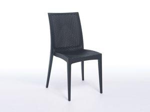 SE 6380, Chaise en plastique l�ger avec de faux entrecroisement, pour les bars