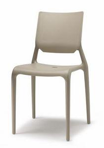 Sirio, Chaise en technopolymère, empilable, différentes couleurs