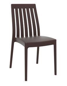 Sonia, Chaise en polypropylène pour intérieur et extérieur, empilable