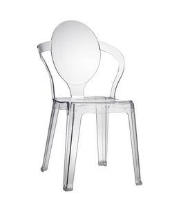 Spoon, Chaise en plastique avec dossier ovale, empilable