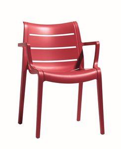Sunset, Chaise en plastique, pour les jardins et les bars