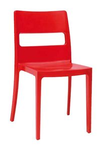 Tai, Chaise en plastique empilable, pour l'extérieur
