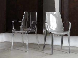Valery-P, Chaise en plastique avec accoudoirs, pour l'extérieur et l'intérieur