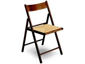 185 F , Chaise pliante avec assise en paille, pour le restaurant
