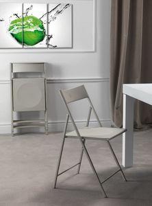 Art. 465 Steel, Chaise pour la cuisine, pliable, en métal et polypropylène