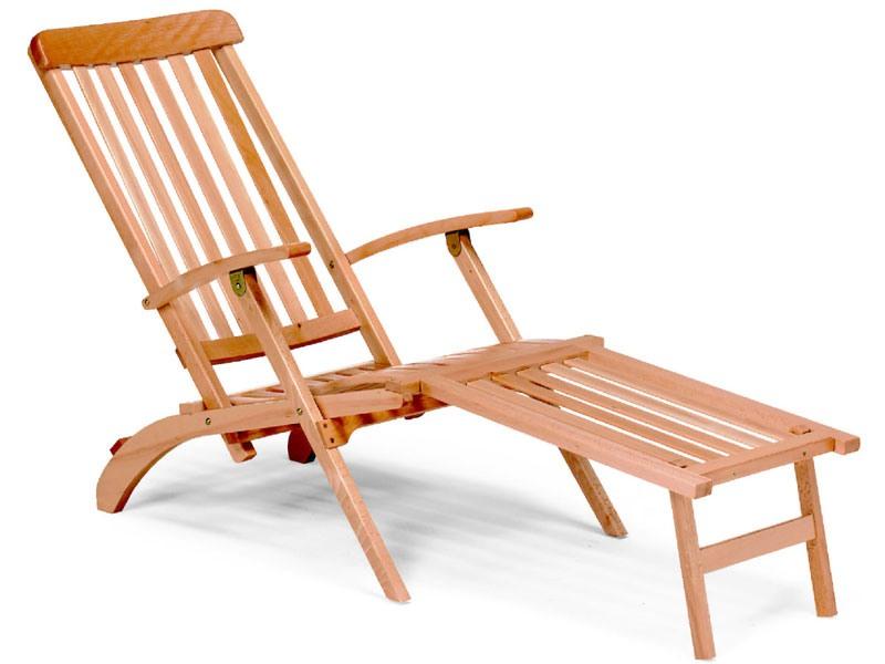 Chaise longue, Chaise longue en bois pour le jardin