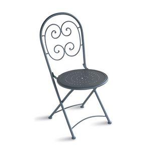 CHF08, Chaise pliante en acier galvanisé, pour l'extérieur