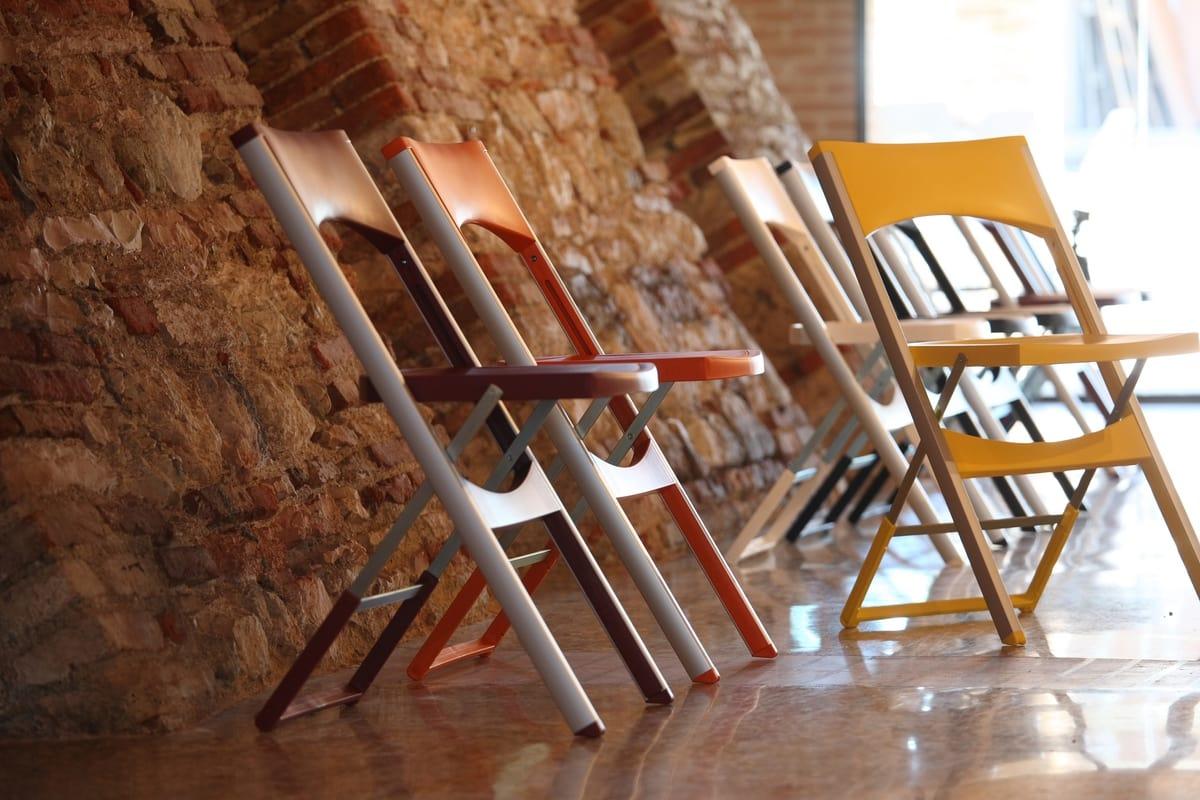 Compact cod. 29, Chaise pliante en aluminium et polypropylène, pour externe