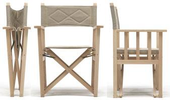 Dolce Vita, Chaise pliante en bois pour une utilisation intérieure et extérieure