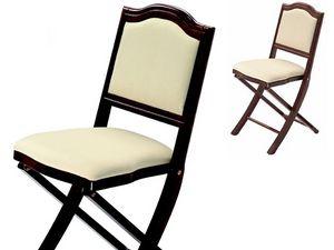 Iris, Chaise rembourrée, pliage, avec un design classique