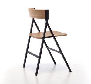 Klapp, Chaise pliante en bois idéal pour le contrat