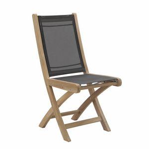 Macao 0340, Chaise pliante en teck et tissu imperméable
