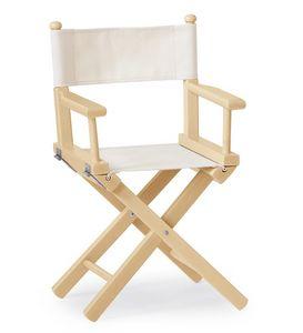 Mini Regista P, Chaise pliante en bois et tissu, pour les enfants