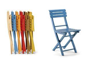 Onos0, Chaise pliante en bois, des couleurs différentes