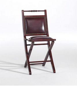 Paola p, Chaise pliante rembourrée, avec un style classique