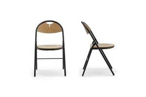 Piega 0550LE, Chaise pliante en métal et en bois, pour salles de conférence