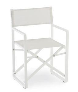 PL 470, Chaise pliante en aluminium et textilène, pour l'extérieur
