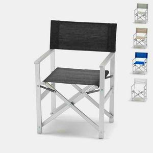 Directeur chaise de plage en aluminium Regista – RE800LUX, Chaise de plage, pliable, peu encombrant