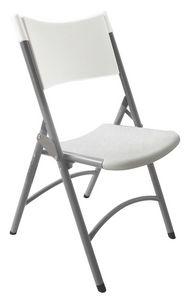 Resol.C - Ken, Chaise en fer et en polyéthylène, pour la restauration et le banquet
