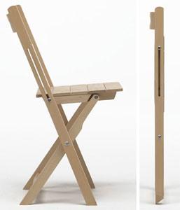 Trip, Chaise léger, pliable, peu encombrant