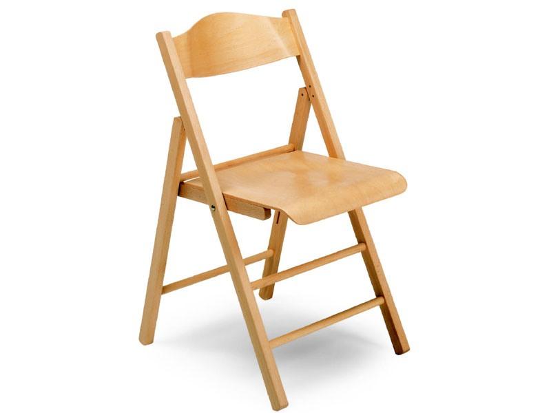 Ugo bis, Chaises en bois, pliable, pour des conférences et des événements