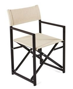 Victor Fauteuil de directeur, Chaise pliante, avec toile batyline, pour l'extérieur