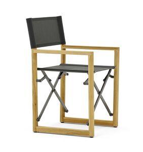 Victor Fauteuil de directeur teak, Chaise de direction en teck, pliable et peu encombrante