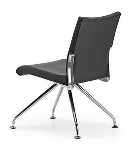 AVIA 4070, Chaise rembourrée, 4 jambes avec pieds, pour le bureau