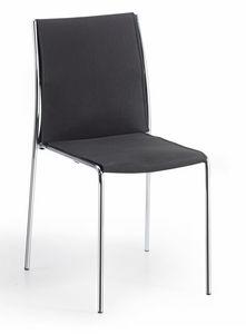 Breda, Chaise empilable, avec structure tubulaire, pour conférence