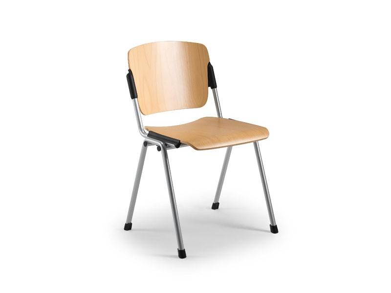 Cortina 6600LE, Chaise avec assise et dossier en contreplaqué de hêtre