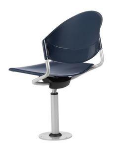 DELFI 086 F, Chaise pivotante, fixé au sol, pour les auditoriums