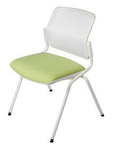 NESTING DELFINET 073, Chaise en métal, siège rembourré, pour les salles de réunion