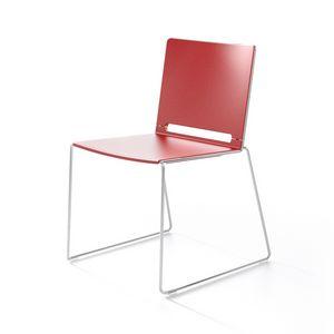 Multi, Métal et chaise en plastique, empilable, pour le Congrès
