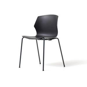 No Frill 4 jambes, Chaise empilable, avec coque en polypropylène, design accrocheur