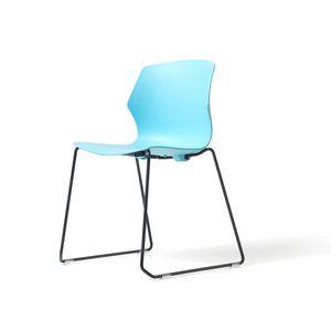 No Frill traîneau, Chaise pour salle de conférence, avec traîneau empilable