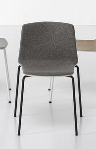 Rama Four Legs padded, Chaise rembourrée avec base en acier, pour conférence