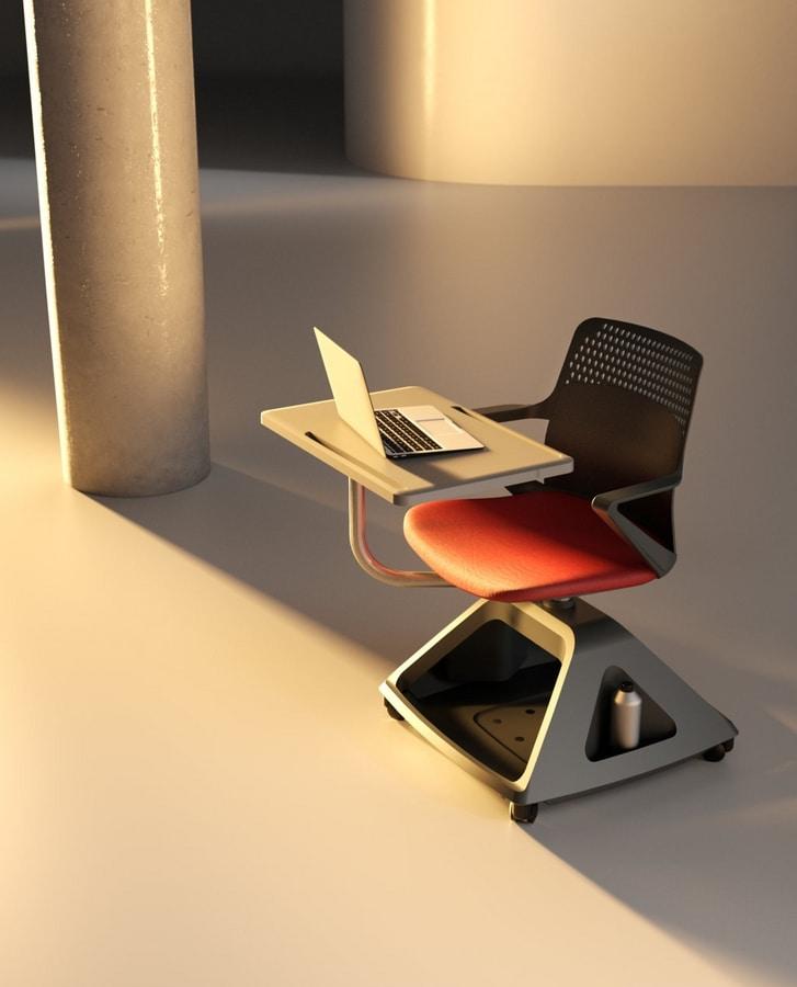 Rover EVO, Chaise avec tablette pliante, et porte-objets de base