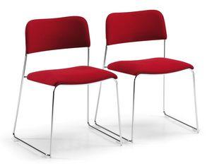 SIGMA 160, Chaise empilable rembourrée, luges, pour salle de réunion