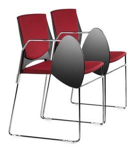 TREK 032 STDX, Chaise rembourrée avec base en métal et d'un copolymère