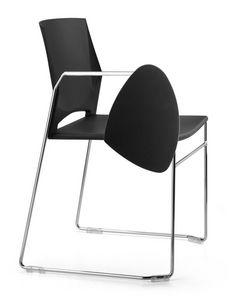 TREK 032 TDX, Chaise en métal, polymère d'enveloppe, tablette écritoire