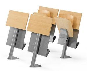 VEKTA A106, Chaise fixe avec bureau et livre de stockage
