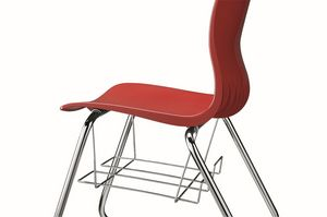 WEBBY 330, Chaise empilable avec piètement luge, avec rangement