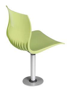 WEBBY 340 F, Chaise pivotante en métal et nylon, fixée au sol