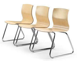 WEBWOOD 350, Chaise avec luge, coque en contreplaqué