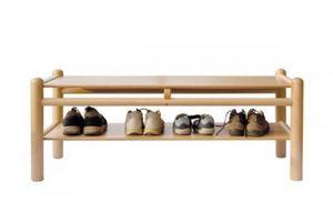940/P2, Banc en hêtre, avec étagère, pour les terrains de jeux et jardins d'enfants