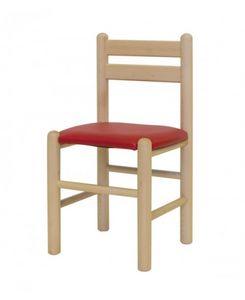 ALLEGRA/I, Chaise rembourrée en hêtre, pour les jardins d'enfants