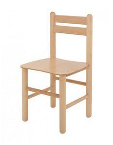 ALLEGRA, Chaise de petits enfants en bois de hêtre, pour les jardins d'enfants