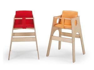 ALTINO, Chaise haute pour enfant, hêtre avec des peintures non - toxiques, pour les pépinières de cuisine et de restauration