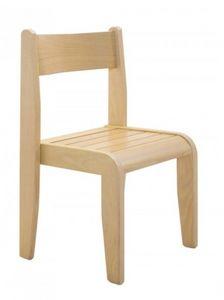 Andy, Chaise pour enfant empilables, en bois de hêtre