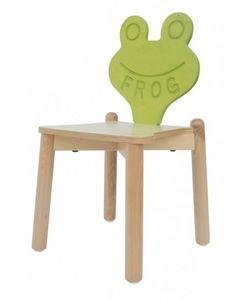 ANIMALANDIA - Frog, Chaise empilable en hêtre, idéal pour chambre d'enfant